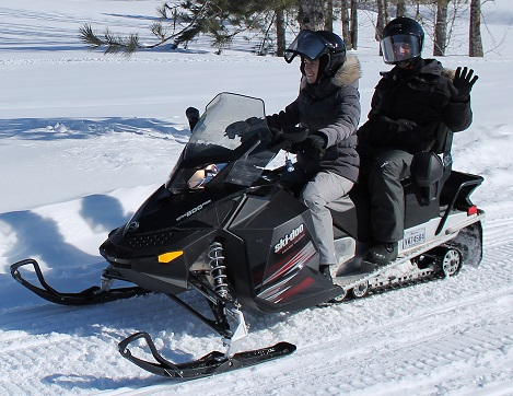 Snowmobile adventure package